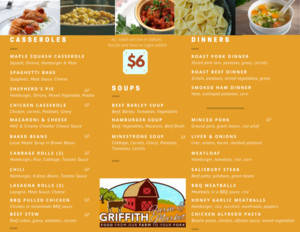 <strong>Griffith Farms</strong><br />A locally owned business that prepares, cooks and puts together nutritious meals